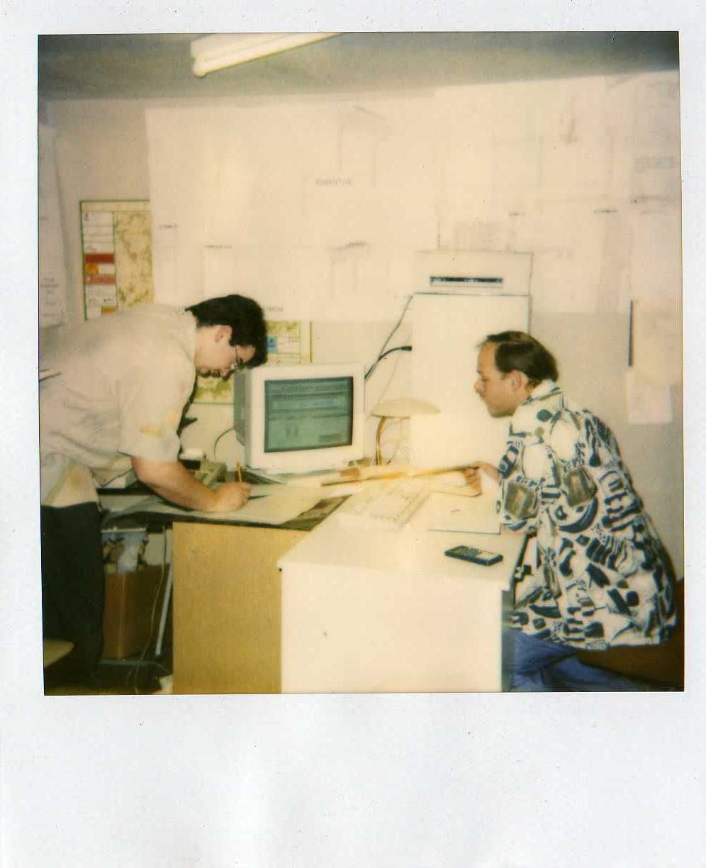 Kleiner Büroraum in der Koch Metallbau Anfangszeit