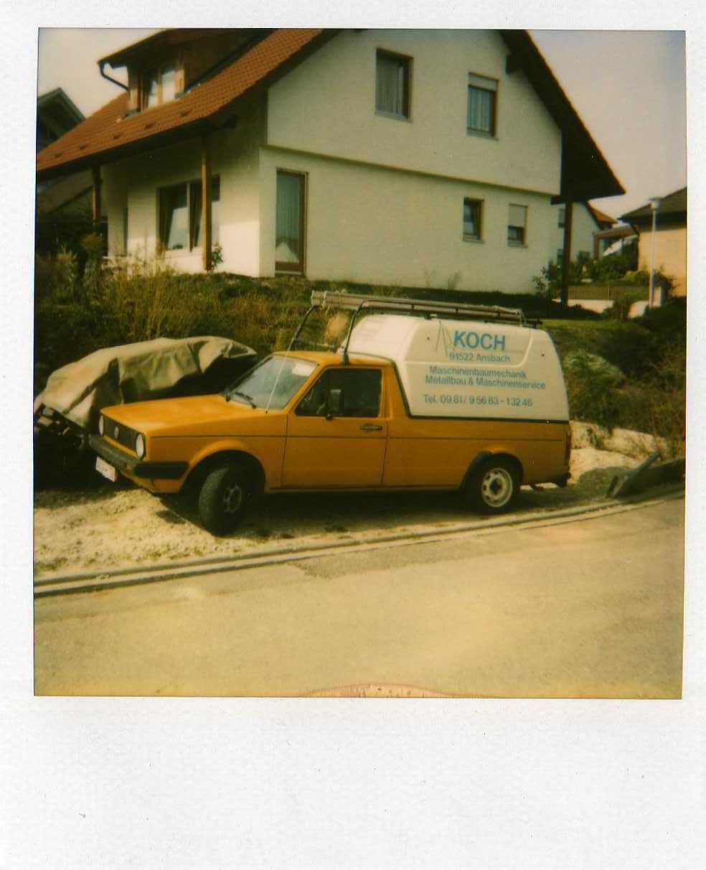 PKW mit Ladefläche war erstes Firmenfahrzeug von Koch Metallbau