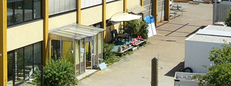 Luftaufnahme Koch Metallbau Eingang