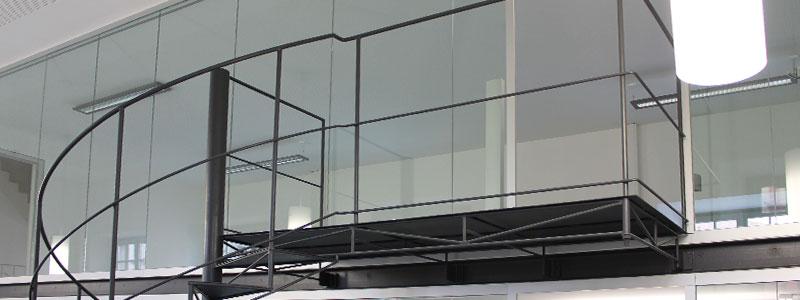 Detailansicht Treppengländer aus Metall