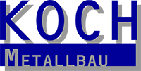 Blaues Logo Koch Metallbau