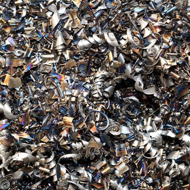 Metallspäne und Metallreste