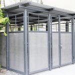 Mülltonnenhaus aus Metall